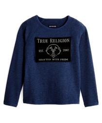 Boys' Midnight cotton buddha sweatshirt