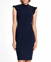 Navy sleeveless mini dress
