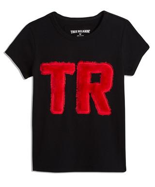 4fbfb5e9f Girls' black cotton logo T-shirt Sale - true religion Sale