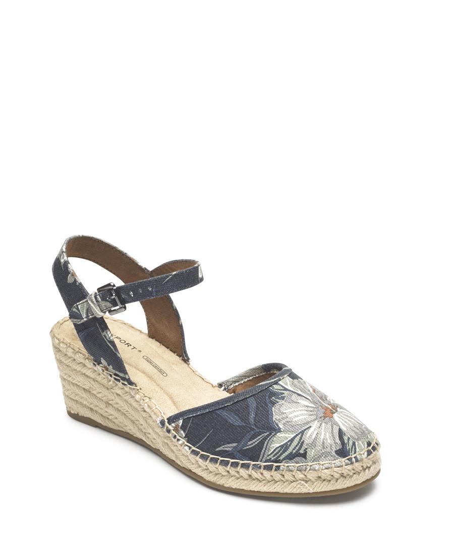 Marah 2 navy floral print sandals Sale - rockport