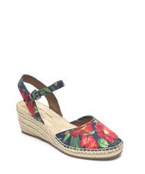 Marah 2 rainbow floral print sandals