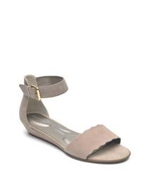 Zandra Curve mauve sandals