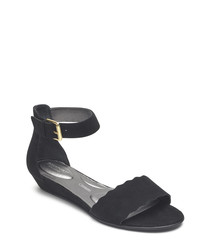 Zandra curve black sandals