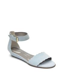 Zandra Curve blue sky sandals