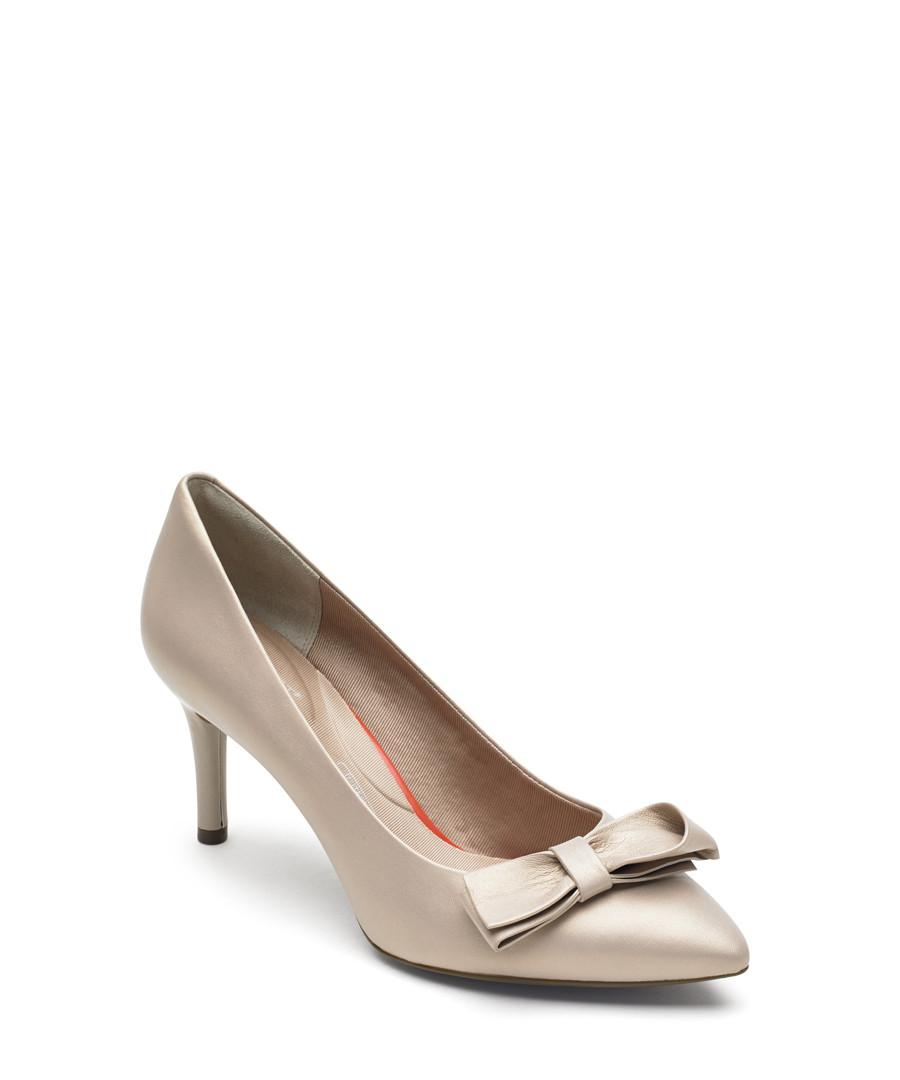 Bow beige leather heels Sale - rockport