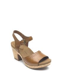 Vivianne 2 tan leather sandals