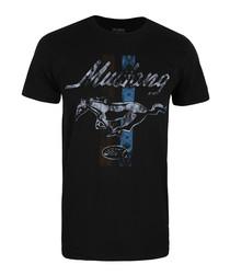 Mustang III black pure cotton T-shirt