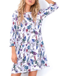 Floral print shift mini dress