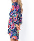 Big tropical floral print mini dress Sale - fobya Sale