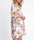 Beige floral print mini dress Sale - fobya Sale