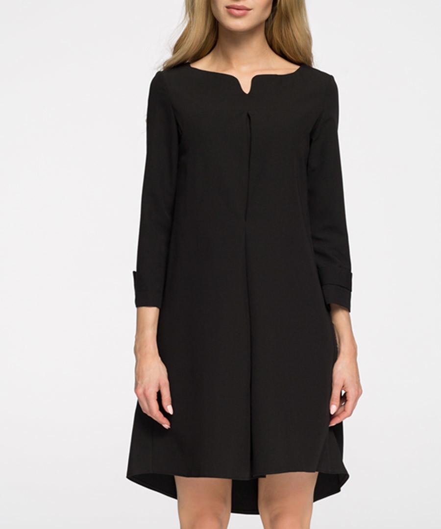Black 3/4 sleeve straight dress Sale - stylove