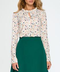 Light fleck collar detail blouse