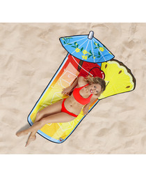 Tropical Drink beach blanket