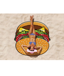 Burger beach blanket