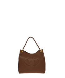 Phoenix brown leather hobo shopper