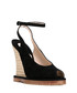 Black suede & jute peep-toe wedges Sale - bottega veneta Sale