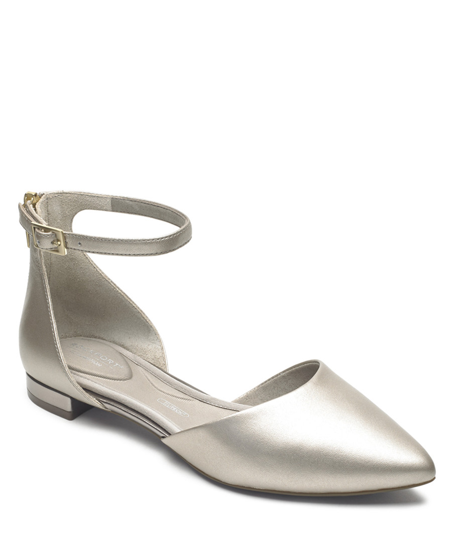 Adelyn 2 silver leather ballet pumps Sale - rockport