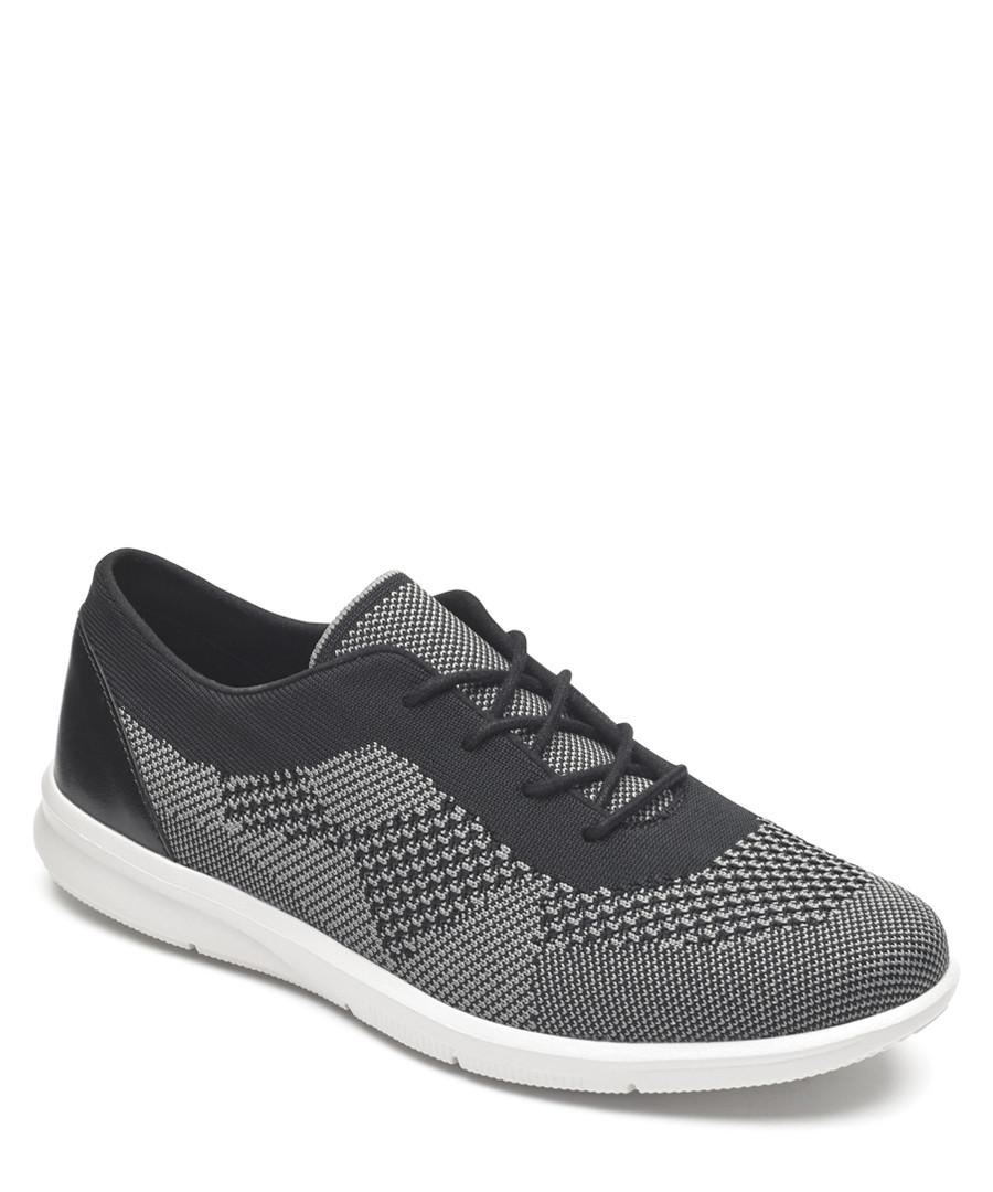 Ayva black & grey knit sneakers Sale - rockport