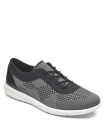 Ayva black & grey knit sneakers