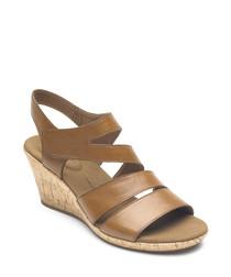 Briah tan leather sandals