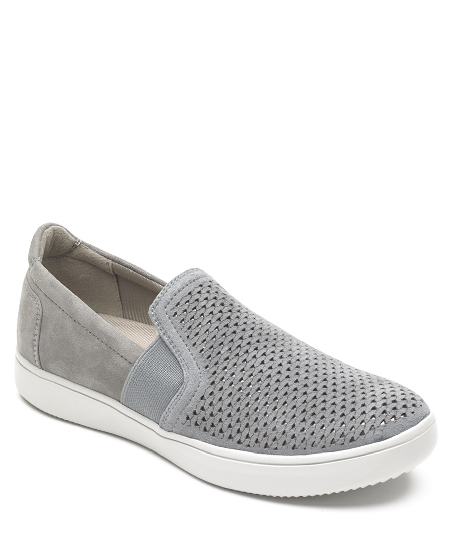 Ariell grey perforated slip-on pumps Sale - rockport