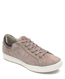 Ariell blush suede sneakers