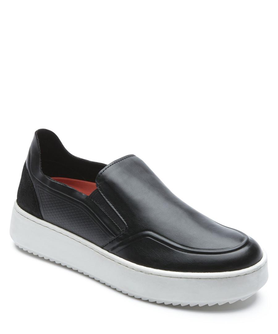 Corra black leather slip-on shoes Sale - rockport