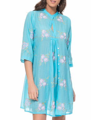 217f3f080a5 tantra. Turquoise cotton print shift dress
