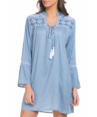 600ae003465 Blue   white tassel shift dress Sale - tantra Sale