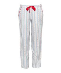 Wren print pure cotton pyjama bottoms