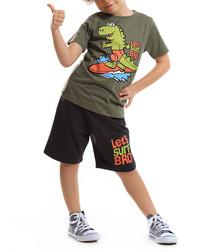 2pc Surfer Croc cotton blend outfit set