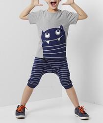 2pc Calm Monster cotton outfit set