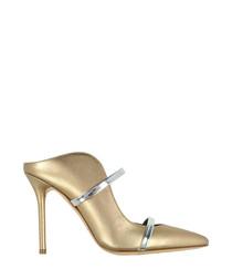 Maureen metallic leather high mules