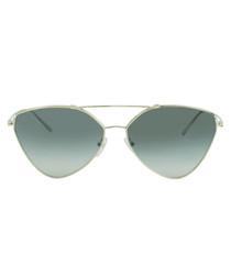 Pale gold-tone triangular sunglasses