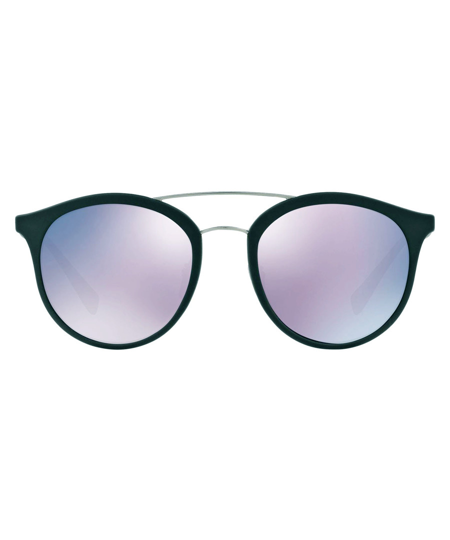 Teal rounded D-frame sunglasses Sale - prada