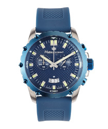 Source puissante blue & silve-tone watch