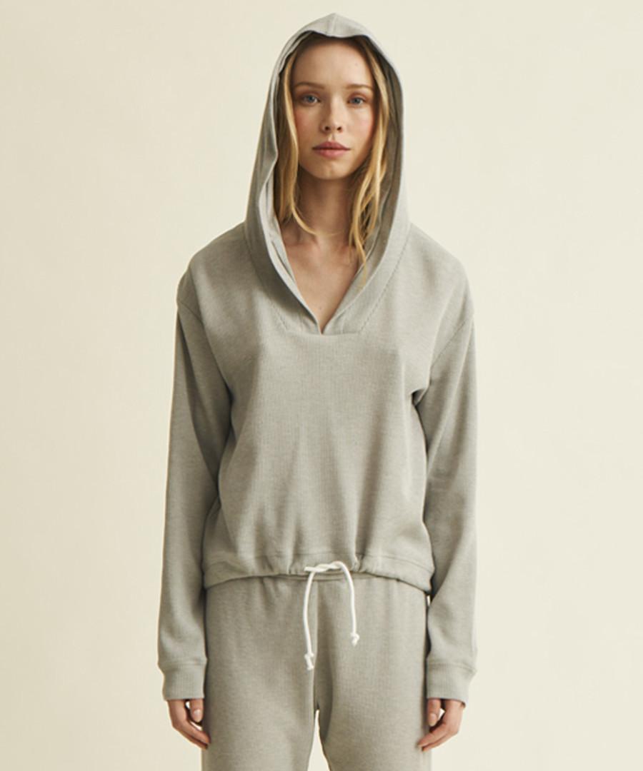 Weslyn grey cotton blend lounge hoodie Sale - Natural Skin