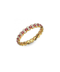 Ruby & diamond garland eternity ring