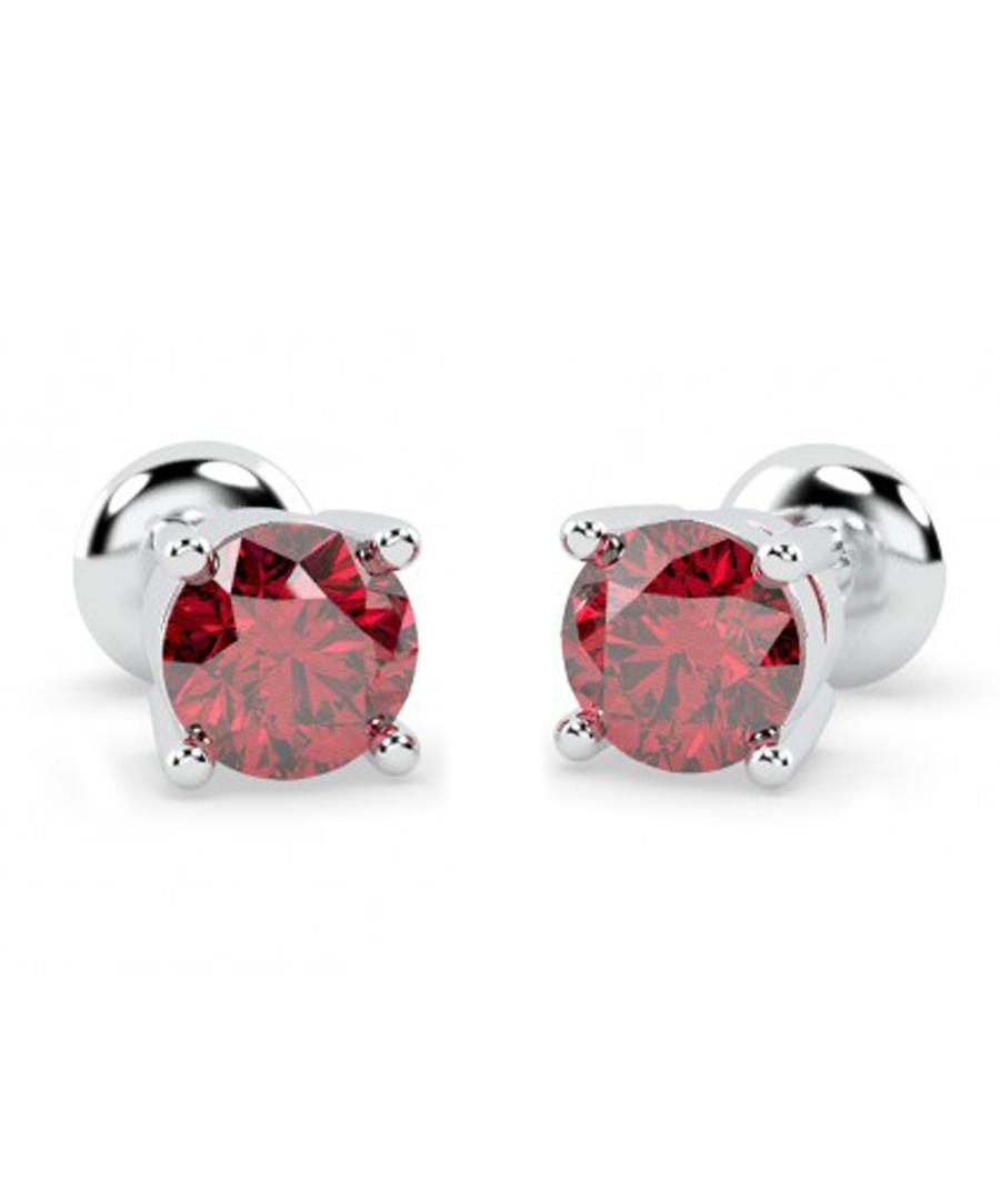 1.00ct ruby & white gold studs Sale - Buy Fine Diamonds