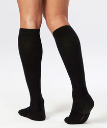 24/7 black compression socks