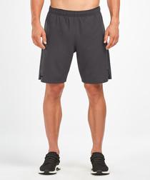 Training 2-in-1 grey compression shorts