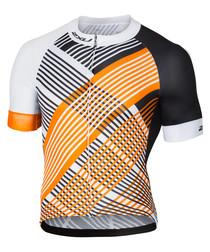 Sub-Cycle white & orange top