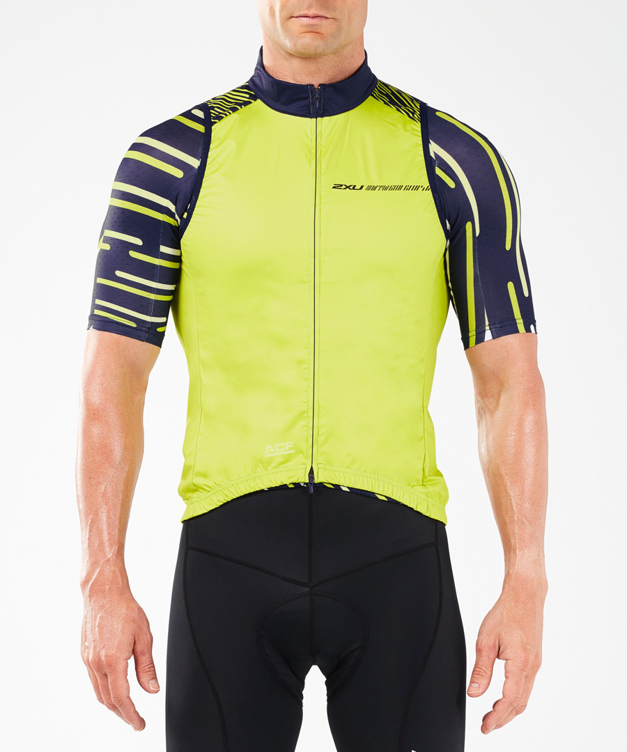 Cycle chartreuse thermal gilet Sale - 2XU