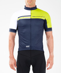 Aero Winter navy panel cycling jacket