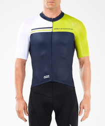 Elite navy panel cycle jersey