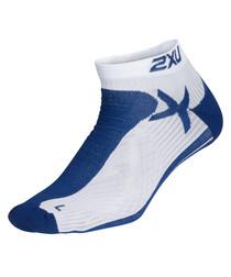 navy & white low rise socks
