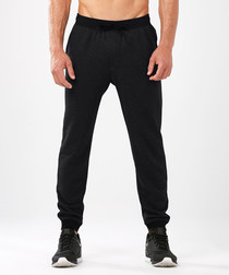 Urban black cotton blend joggers