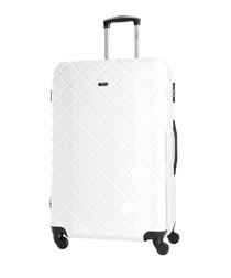 dominguez white suitcase 70cm