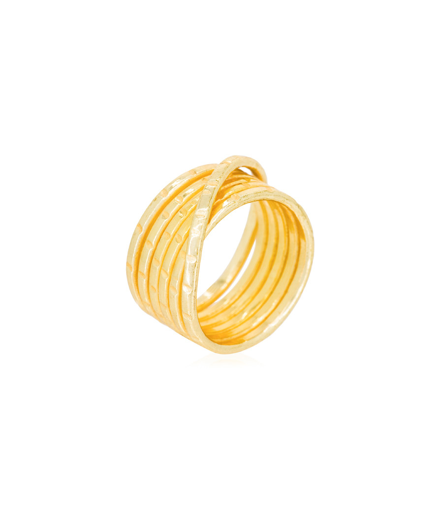 Justine gold-plated layer ring Sale - moonstone