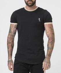 RINGER black cotton T-shirt